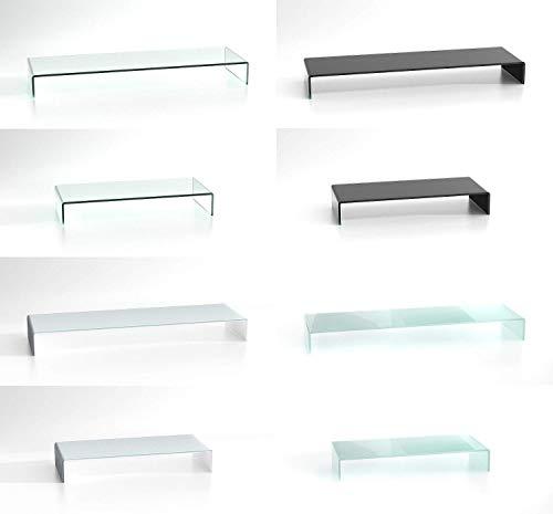 DURATABLE® TV Glasaufsatz Glastisch LCD Tisch Aufsatz Monitorerhöhung Fernsehtisch Glas Schrankaufsatz Aufsatz Fernseher Erhöhung Klarglas 800x300x130