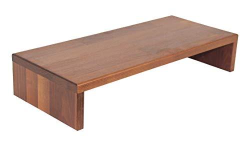 Tischaufsatz, massives Holz: Robinie geölt, Bildschirmerhöher, TFT-Ständer, Monitorständer, Massivholz
