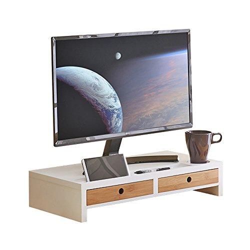 SUPPORT Massivholz Desktop Computer Monitor Erhöhte Rack, Büro Mit Einer Schublade Desktop Storage Bracket ( Farbe : 1# )